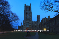 Dusk over Ely City Cathedral
