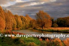 Autumn Colours river Nene Castor village Peterborough