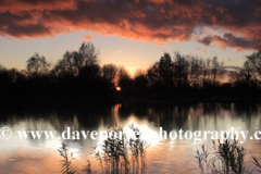 Winter sunset over a Fenland Drain