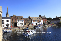 Quayside and Bridge Chapel; River Great Ouse, St Ives