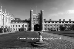 St Johns College courtyard, Cambridge City