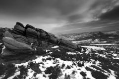 Wintertime on the Hurkling Stones, Derwent Moors