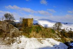 Winter Pevril Castle Hope Valley