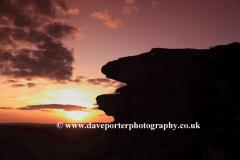 Sunset, Curbar gritstone edge