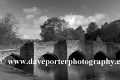 River Wye and stone road bridge, Bakewell Town