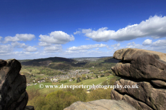 View to the village of Cromford from the Black Rocks