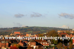 Chesterfield town and the Crooked Spire Church