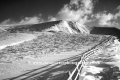 Winter, Mam Tor peak, Edale Valley