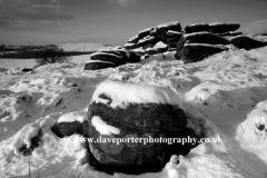 Winter Gritstones, Lawrence Field, Nr Grindleford
