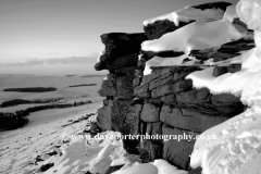 Winter Snow over Stanage Edge