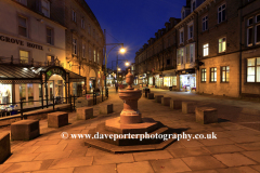 The market town of Buxton at night