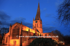 Crooked spire, St Marys Church, Chesterfield