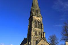 St Peters church, village of Edensor