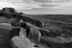 Summer, Millstone on Curbar gritstone edge
