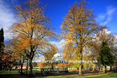 Bandstand in Hall Leys park, Matlock town