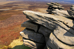 View to Howden Moor from Back Tor Gritstone Edge