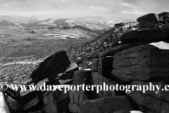 Winter snow on Hathersage moor