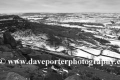 Wintertime on Curbar edge