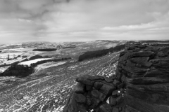 Wintertime on Stanage Edge