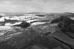 Wintertime on Stanage Edge, Peak District