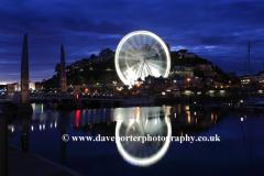 The Ferris Wheel at night, Torquay  harbour