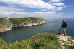 Walker at Berry Head Nature Reserve, Torbay