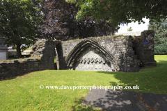 Ruins of Tavistock Abbey Cloisters, Tavistock town