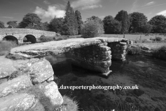 Ancient Stone Clapper Bridge, Postbridge village