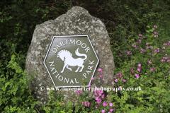 Dartmoor National Park boundary stone