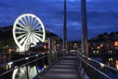 The Ferris Wheel at night, Torquay  harbour, Torbay
