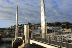 Sunset over Torquay harbour, Torbay