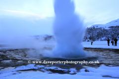 The Geothermal springs at Strokkur Geysir