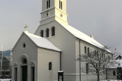 Exterior of the Dómkirkjan Cathedral, Reykjavik