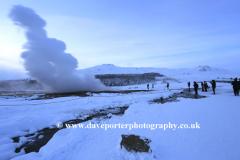 The Geothermal Strokkur Geysir, Haukadalur valley