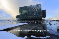 Exterior of the Harpa concert hall, Reykjavik