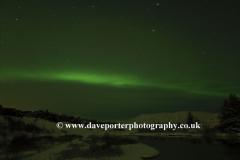 Northern Lights over Pingvellir National Park