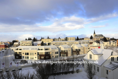 Winter view over Borgarnes town
