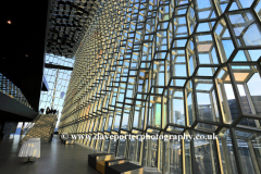 Interior of the Harpa concert hall, Reykjavik