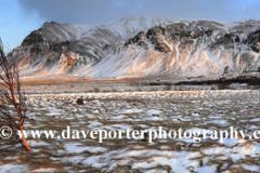 Winter sunrise over the Esja Mountain range