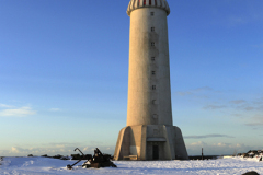 The Akranesviti lighthouse, Akranes town