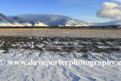 Snow over the Lava fields, Skardsheidi mountains