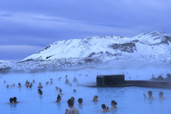 People in the Blue Lagoon geothermal spa