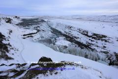 Winter, Gullfoss Waterfall, Pingvellir National Park