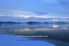 Sunset, Pingvallavatn lake, Pingvellir National Park