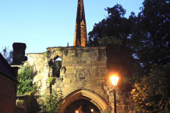 The South Gateway, The Newarke, Castle Gardens, Leicester City, Leicestershire, England; Britain; UK
