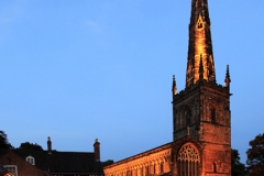 Church of St Mary de Castro on Castle Street, Leicester City, Leicestershire, England; Britain; UK
