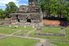The ruins of the Jewry Wall, Jewry Wall Museum, Leicester City, Leicestershire, England; Britain; UK