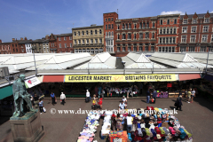 The covered market stalls at Leicester City, Leicestershire, England; Britain; UK
