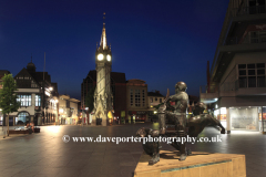 The Clock Tower at night, Leicester City, Leicestershire, England; Britain; UK