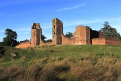 The ruins of Bradgate House, Bradgate Park
